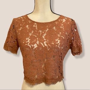 Forever 21 lace top. EUC